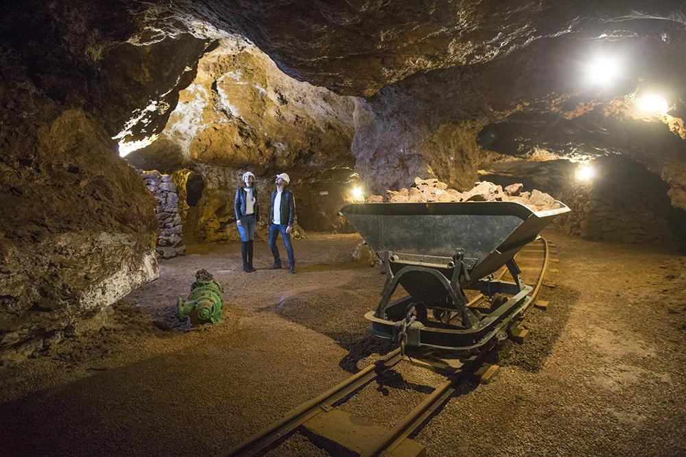 Visita a la mina de hierro